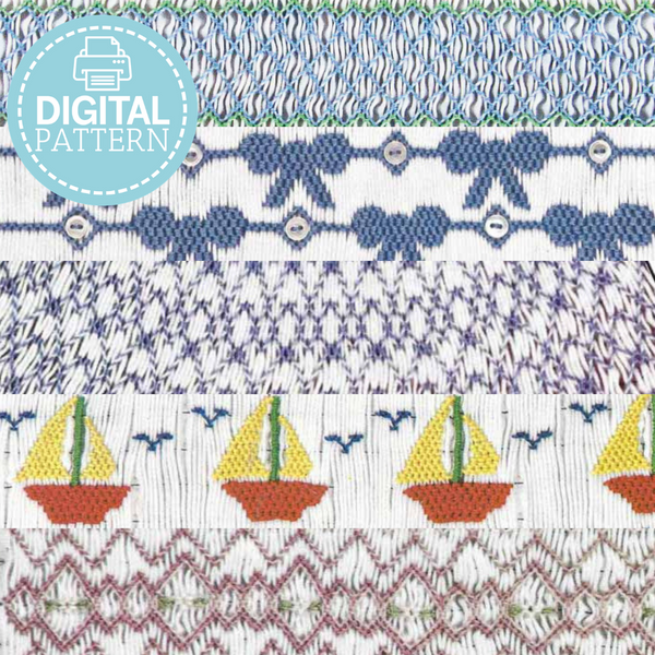 Complete Smocking Plate Collection - Digital Download