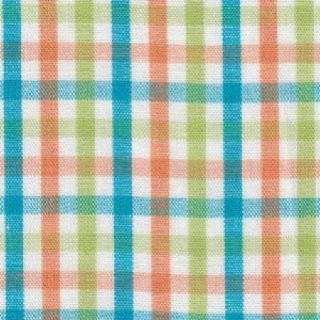 Lime, Turquoise, and Orange Check