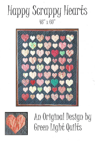 Happy Scrappy Hearts Quilt