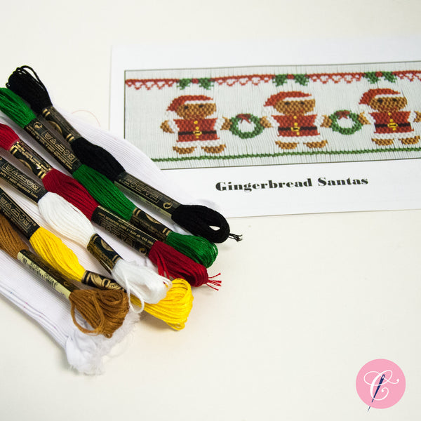 Pleated Insert Kit: Gingerbread Santas