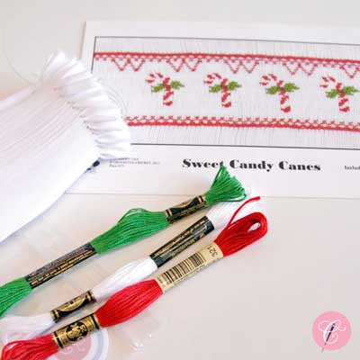 Pleated Insert Kit: Sweet Candy Canes