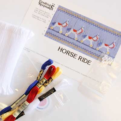 Pleated Insert Kit: Horse Rides