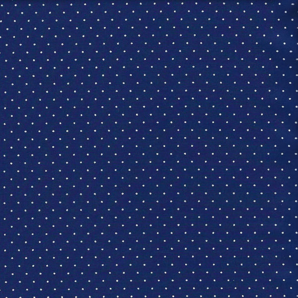 White Polka Dots on Navy