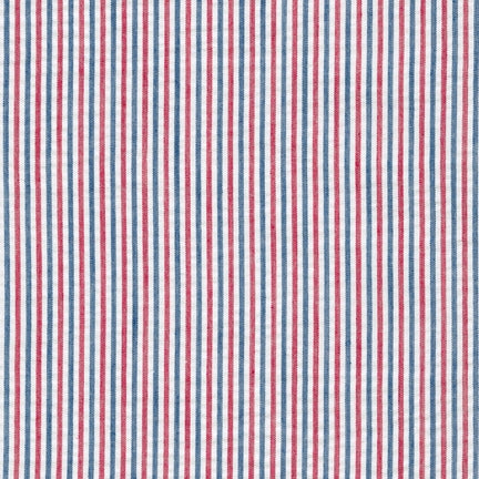 Seersucker Red/Navy Americana Stripe