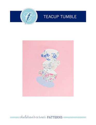 Teacup Tumble Appliqué Pattern - Digital Download