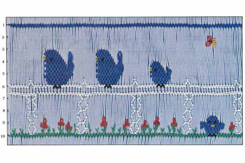 Children's Corner Chirps Smocking Plate
