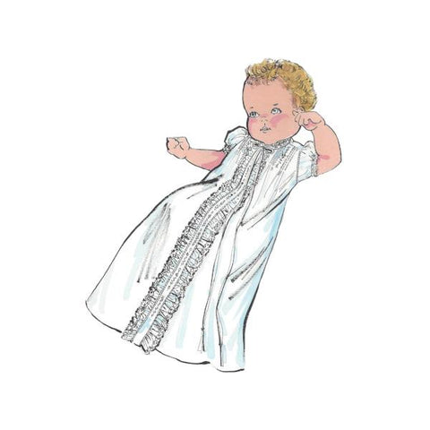 "Infant Daygown Art Print - 8""x10"" Print or Digital Download"