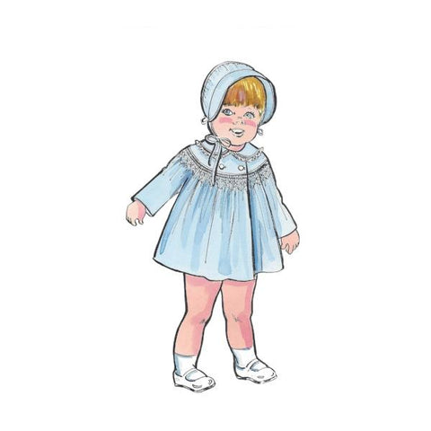 "Smocked Coat & Bonnet Art Print - 8""x10"" Print or Digital Download"