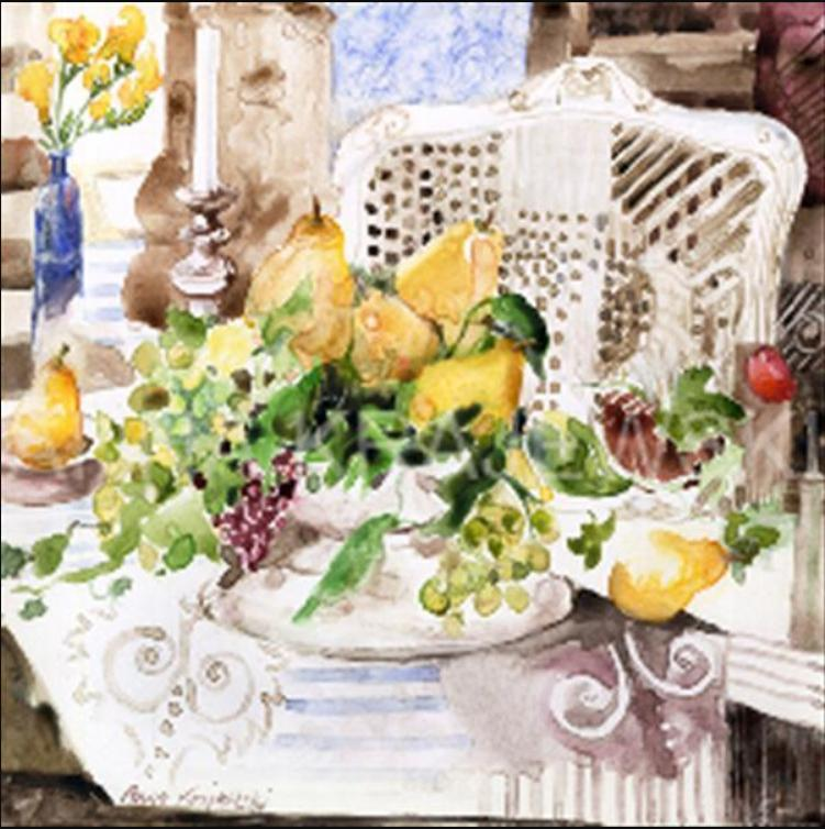 WHITE CHAIR AND PEARS by Anna Krajewski | Artfest Ontario