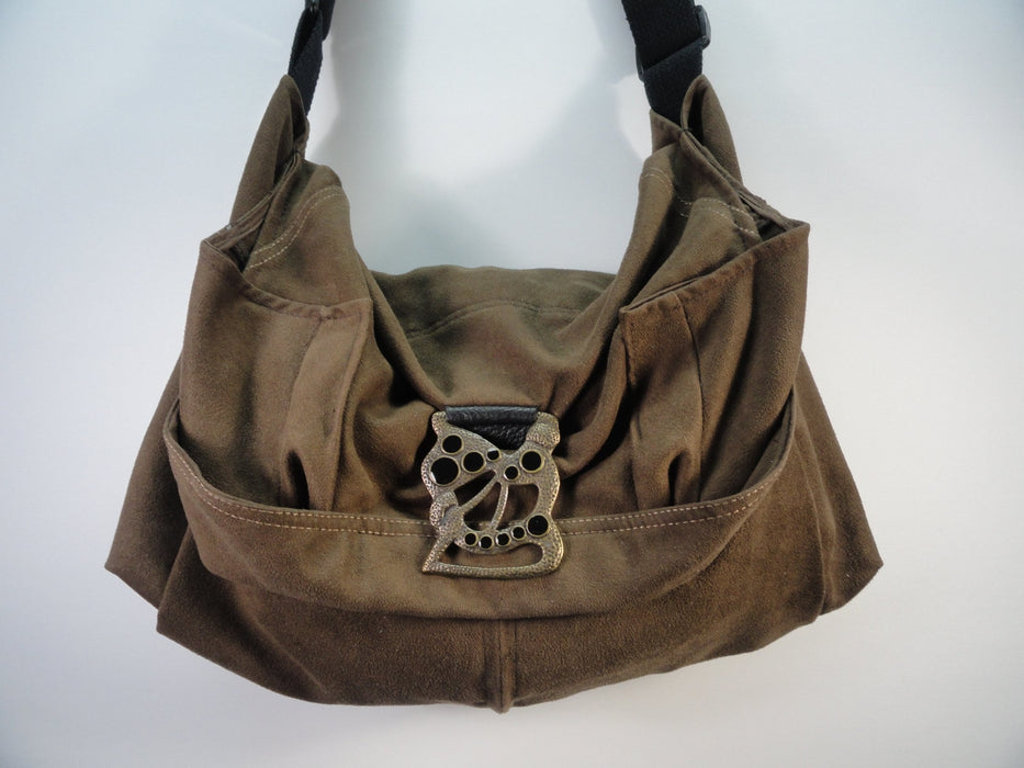 1886 Upcycled Brown Crossbody Bag - Artfest Ontario - Revoila Handbags - Clothing & Accessories