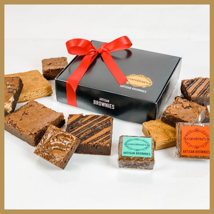 4 Gourmet Classic + 9 Gourmet Snack Brownies - Black Box - Artfest Ontario - Carolina's Artisan Brownies - Brownie Box
