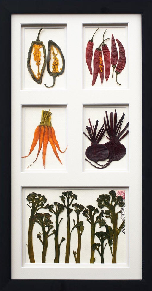 5 Windows, Option Two - Artfest Ontario - Botanical Art By Diane - Vegetable Art