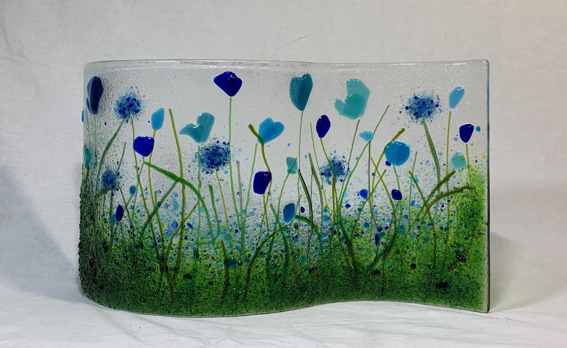 Large Glass Flower Waves