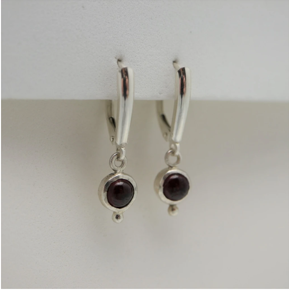 Audrey Sterling Silver Earrings with Gemstones-Devine Fine Jewellery-Artfest Ontario-handmade-handcrafted-local-shop small-Ottawa-gemstones-one of a kind-garner