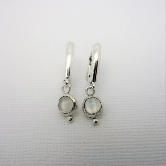 Audrey Sterling Silver Earrings with Gemstones-Devine Fine Jewellery-Artfest Ontario-handmade-handcrafted-local-shop small-Ottawa-gemstones-one of a kind-moonstone