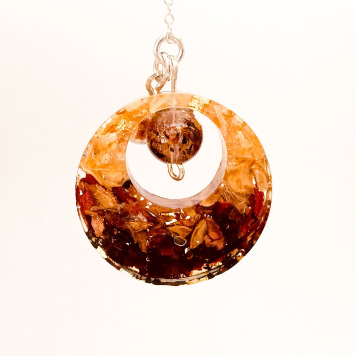 Afternoon Tea Pendant- Round with Center Bead - Artfest Ontario - Studio Degas - Jewelry & Accessories