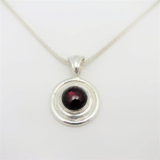 Aimee - Sterling Silver and Garnet Gemstone Pendant - Artfest Ontario - Devine Fine Jewellery - Pendant/ Necklace