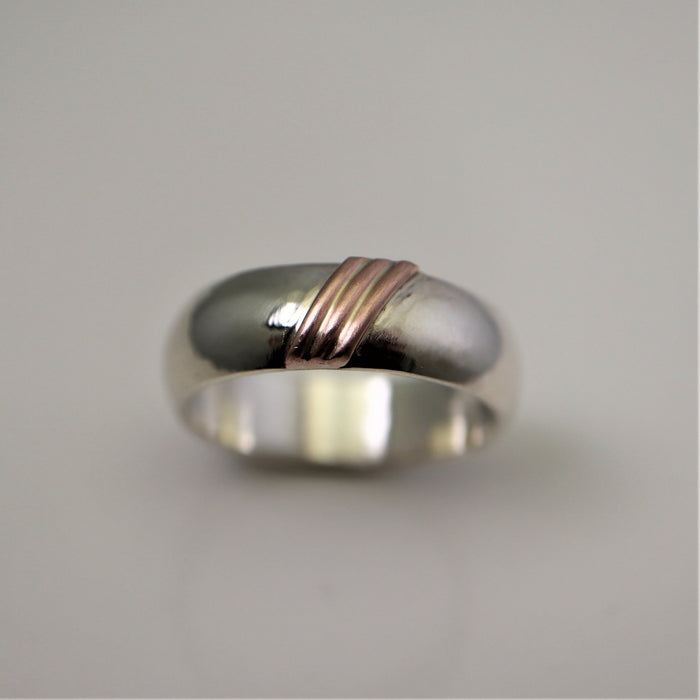 Alex - Sterling Silver and 14k Gold Ring - Artfest Ontario - Devine Fine Jewellery -