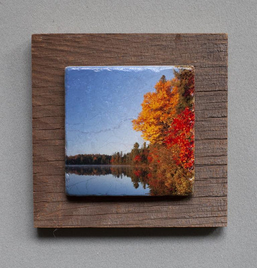 Algonquin - On Barn Board 0105 - Artfest Ontario - Art On Stone - Photography