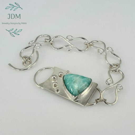 Amazonite Link Bracelet -JDM Jewelry Designs by Mikki - Artfest Ontario - JDM - Jewelry Designs by Mikki - Jewelry & Accessories