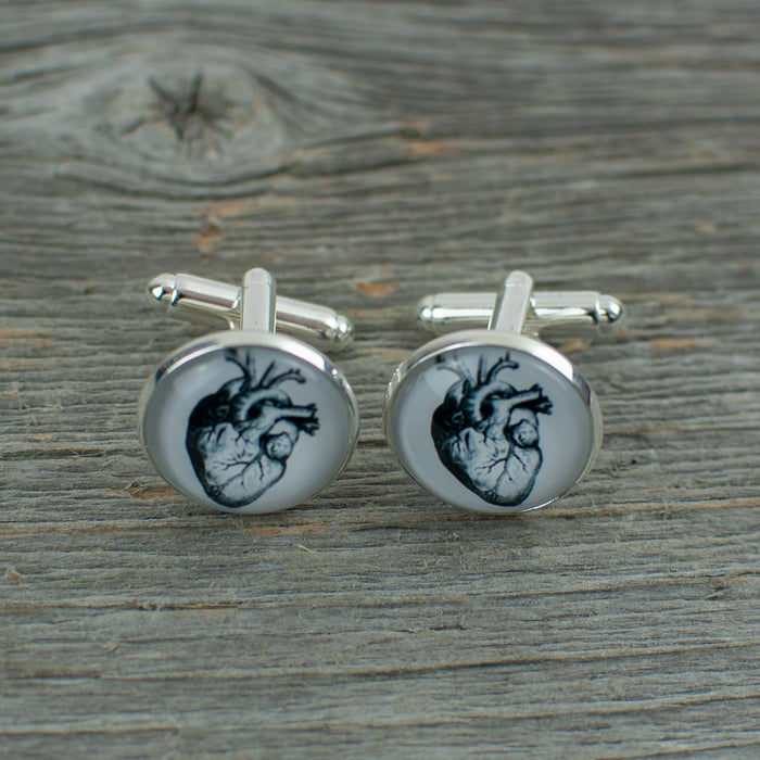 Anatomical heart Cuff links - Artfest Ontario - Lisa Young Design - Cuff Links