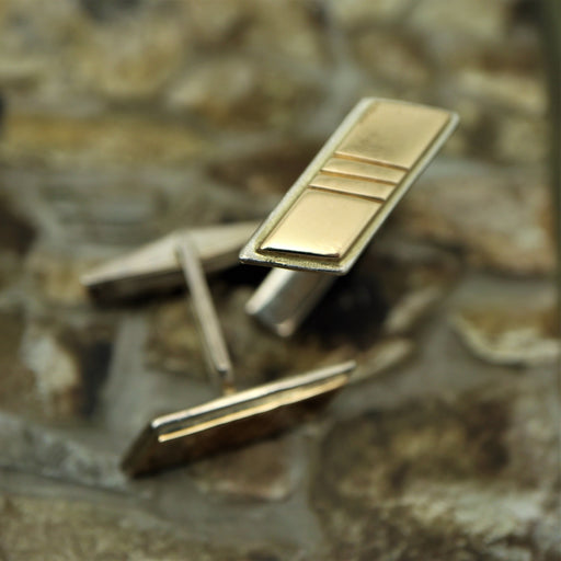Artie Sterling 14k Yellow Gold Cufflinks - Artfest Ontario - Devine Fine Jewellery - Cufflinks