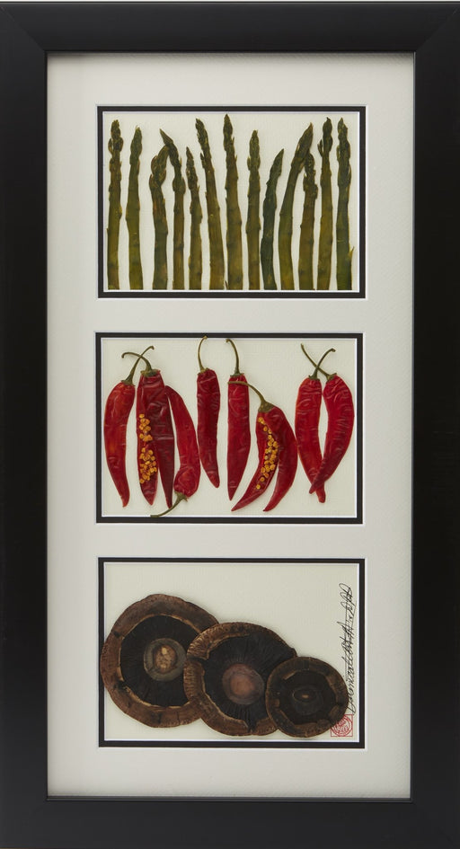 Asparagus, Peppers, and Mushrooms - Artfest Ontario - Botanical Art By Diane - Vegetable Art