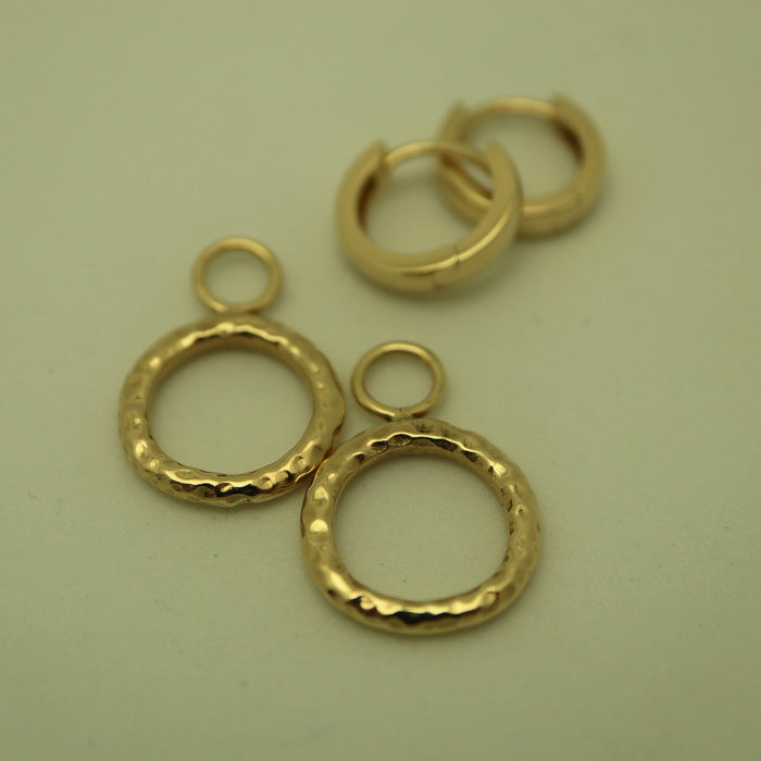 Baby Circle's 14K Gold Earrings - Artfest Ontario - Devine Fine Jewellery - Earrings