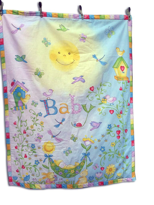 Baby Quilt- Reversible Sunshine Baby & Little Bears - Artfest Ontario - Muffin Mouse Creations - Clothing & Accessories