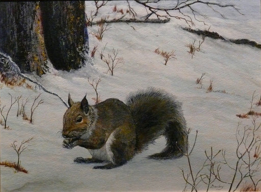 BACKYARD SQUIRREL - Artfest Ontario - BC's Art Studio - Paintings