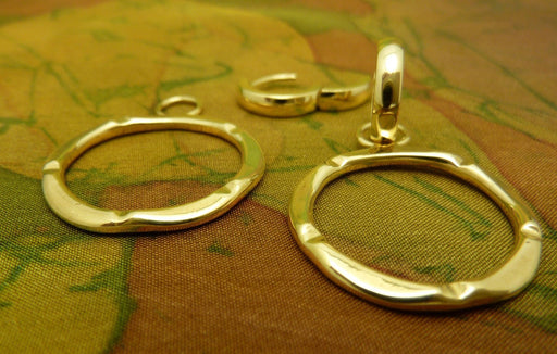 Bamboo Circle's 14k Yellow Gold Earrings - Artfest Ontario - Devine Fine Jewellery - Earrings