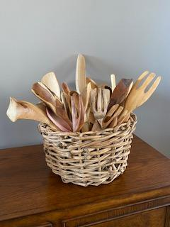 Basket of Spoons - Artfest Ontario - Ron Mahler - woodwork