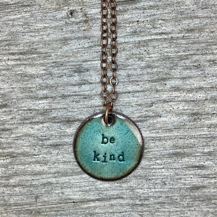Be Kind Necklace in Turquoise - Artfest Ontario - Aflame Creations Jewelry - Jewellery