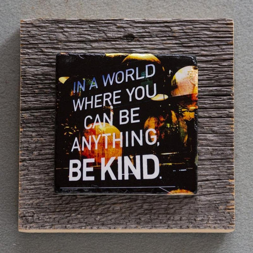Be Kind - On Barn Board 0007 - Artfest Ontario - Art On Stone - Photography