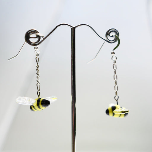 Bee Earrings - Artfest Ontario - Fire & Flame Glassworks - Glass Work