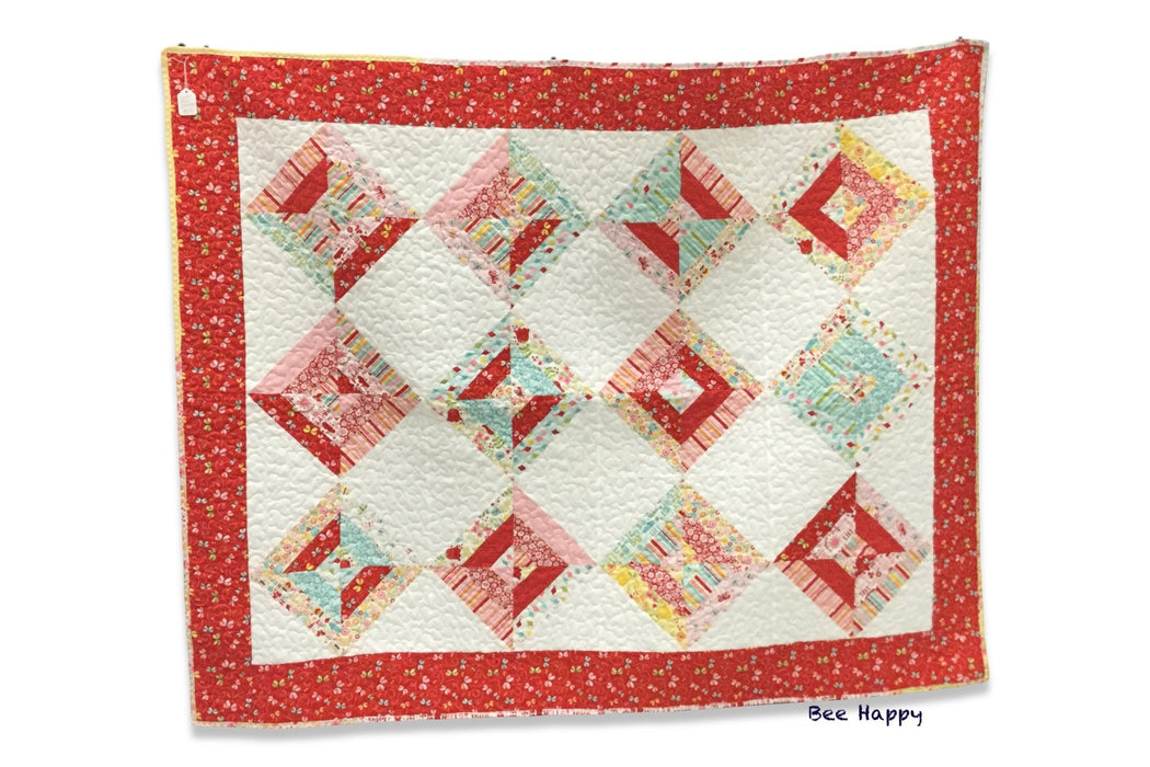 """ Bee Happy"" Large lap quilt - Artfest Ontario - EMA Design Treasures -"