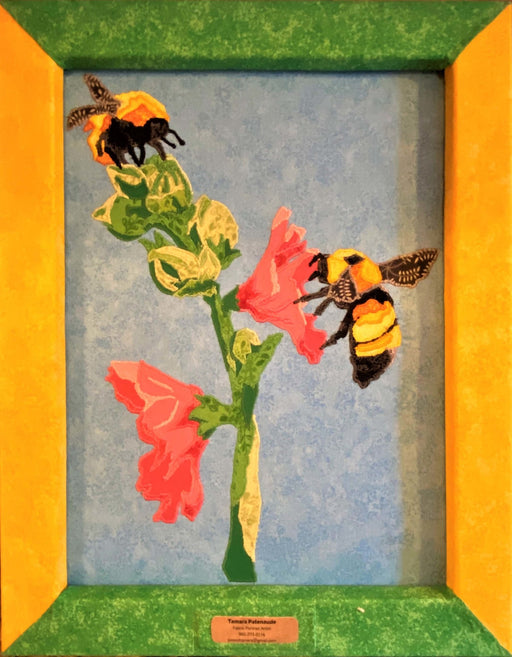 "Bee Portrait Quilt ""Visiting Georgia's Place"" - Artfest Ontario - Tamara's Treasured Shop - Home Decor"