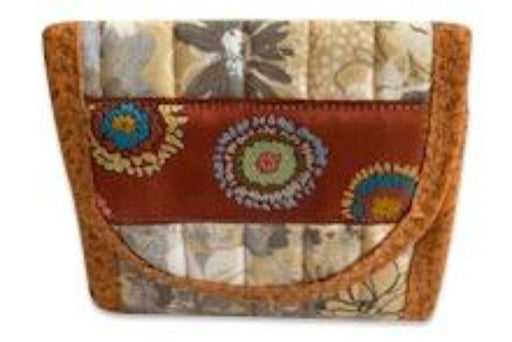 Beige and Brown Everyday Pocket Wallet - Artfest Ontario - EMA Design Treasures - Quilted Products
