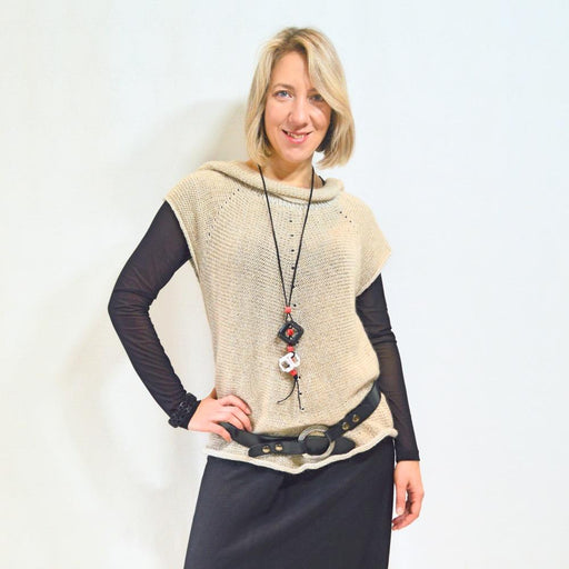 Beige LiLi Jacket - Artfest Ontario - OlgaG Knits - Clothing & Accessories