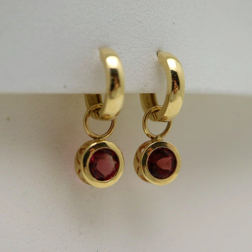 Bella - Pink Tourmaline - Artfest Ontario - Devine Fine Jewellery - Earrings - Hoops