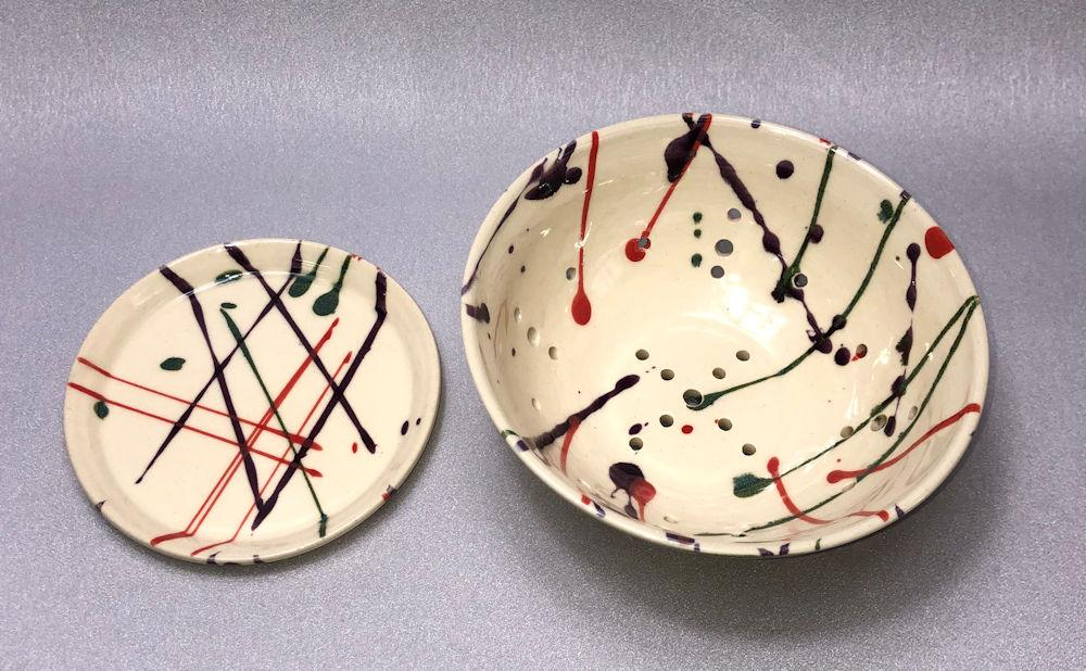 Berry Bowl and Saucer - Artfest Ontario - Stevens Pottery - Pottery