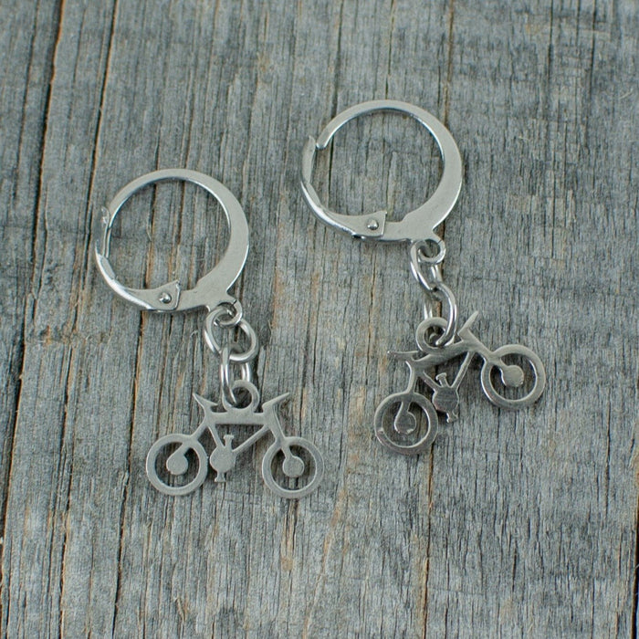 Bicycle stainless steel earrings - Artfest Ontario - Lisa Young Design - Earrings