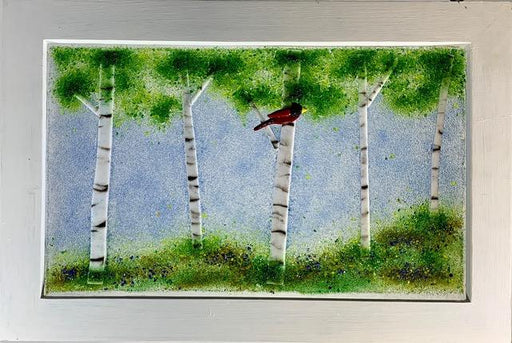 Birch Tree in Summer Glass Art - Artfest Ontario