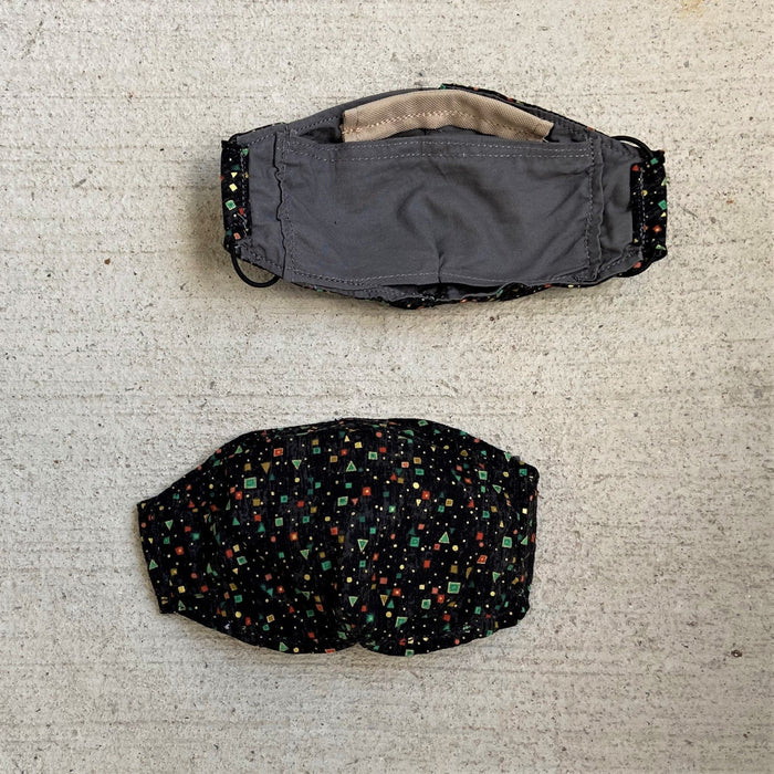 Black Mask with Dot Pattern - Artfest Ontario - Arrowsmith Leather - Clothing & Accessories
