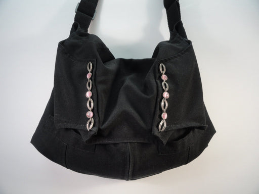 Black Shoulder Hobo Bag #1799 - Artfest Ontario - Revoila Handbags - Clothing & Accessories