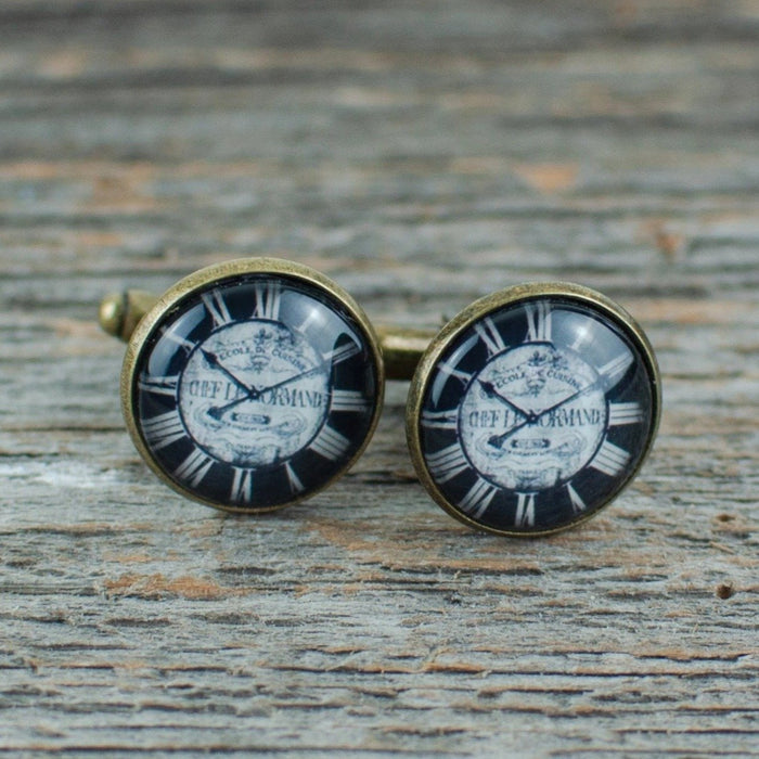 Black Watch Face Cufflinks - Artfest Ontario - Lisa Young Design - Cuff Links