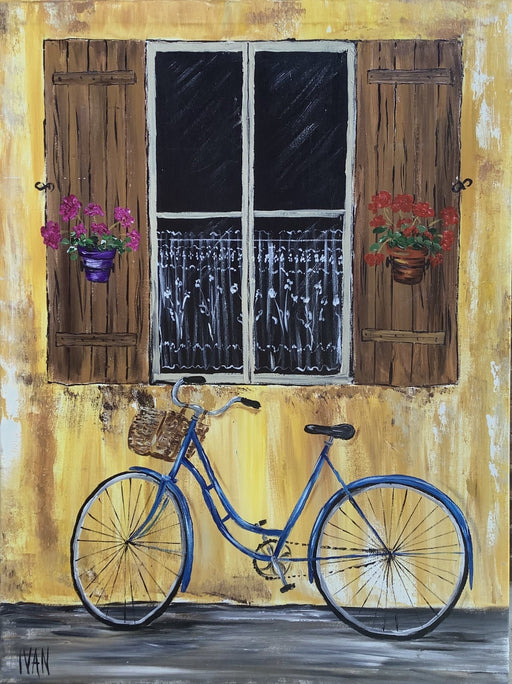 Blue Bike Italy - Artfest Ontario - Art by Ivan - Painting