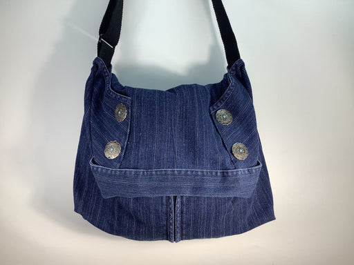 Blue Crossbody Hobo Bag #1892 - Artfest Ontario - Revoila Handbags - Clothing & Accessories