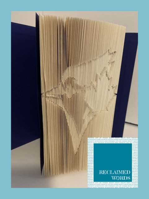 Blue Jays Book - Artfest Ontario - Reclaimed Words - Paintings, Artwork & Sculpture