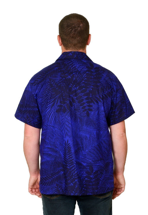 Blue Tropical Pattern - Hawaiian Shirt - Artfest Ontario - Joe-Feak - Clothing & Accessories
